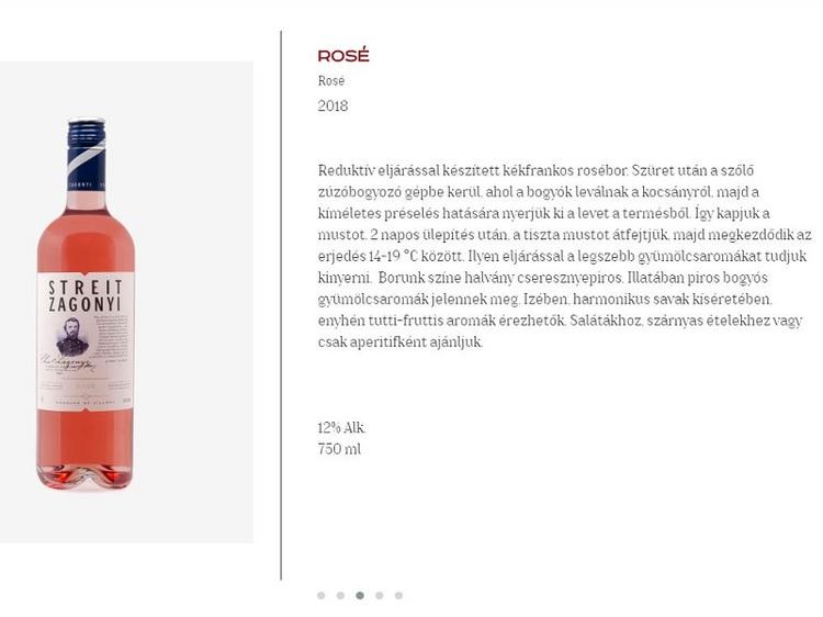 Streit-Zágonyi Rosé  0,75 L