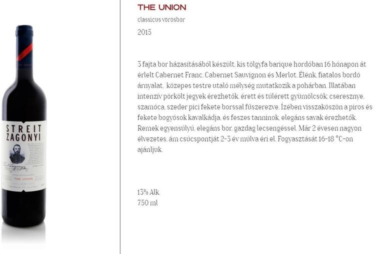 Streit-Zágonyi Union  0,75 L