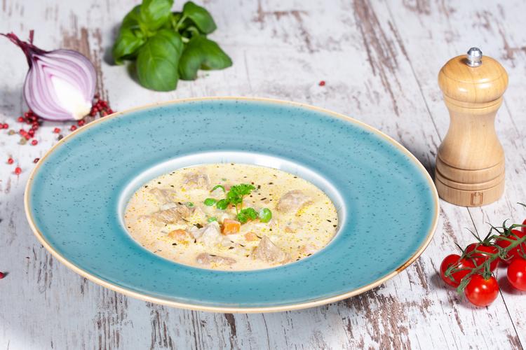 Tárkonyos borjúragu leves