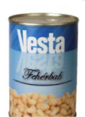 Fehérbab konzerv 400 gr